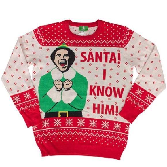 e3cb6ea3a8 Ugly Christmas Sweater Elf  Santa! I know him